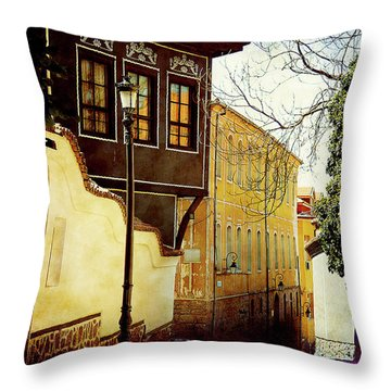 Throw Pillow featuring the photograph Quiet Street by Milena Ilieva