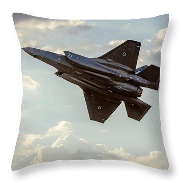Throw Pillow featuring the photograph Raaf F-35a Lightning II Joint Strike Fighter by Chris Cousins