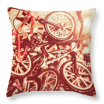 Racing Competition Throw Pillow