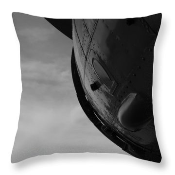 Radial Cowl Throw Pillow
