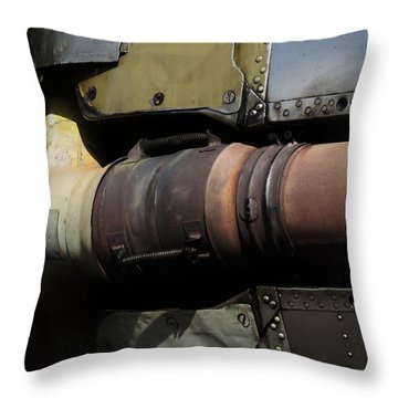 Radial Engine Exhaust Throw Pillow