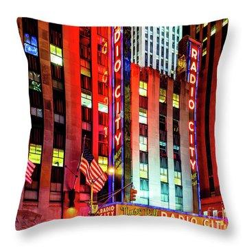 Radio City Music Hall Throw Pillow