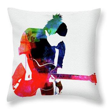Radiohead Watercolor Throw Pillow