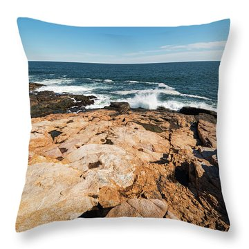 Rafe's Chasm Gloucester Ma North Shore Ocean Throw Pillow