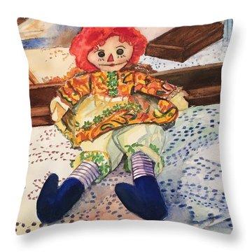 Raggedy Annie Throw Pillow