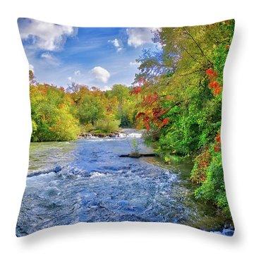 Throw Pillow featuring the photograph Raging Beauty At Niagara Falls by Lynn Bauer