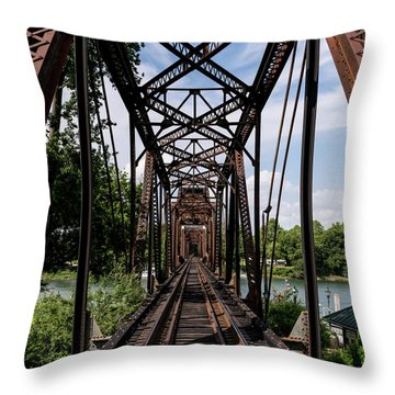 Railroad Bridge 6th Street Augusta Ga 1 Throw Pillow