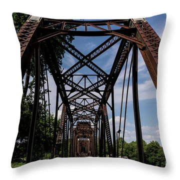 Railroad Bridge 6th Street Augusta Ga 2 Throw Pillow
