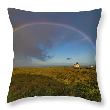 Rainbow At Point Cabrillo Throw Pillow