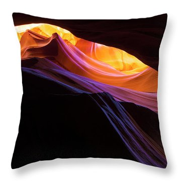 Rainbow Canyon Throw Pillow