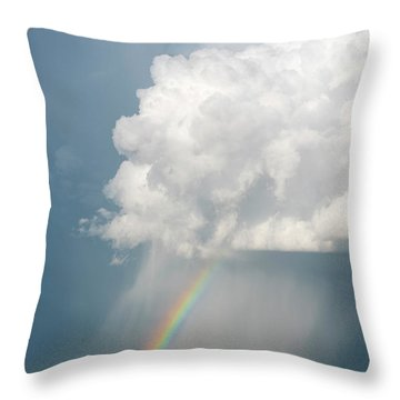 Rainbow Cloud Throw Pillow