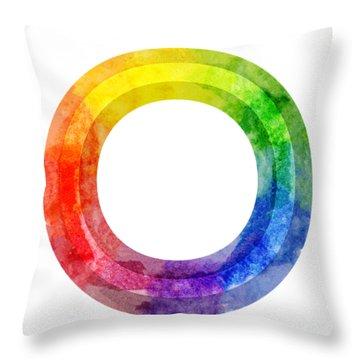 Rainbow Color Wheel Throw Pillow