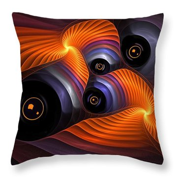 Rainbow Eyes Throw Pillow