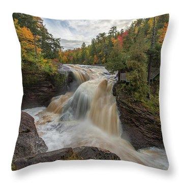 Rainbow Falls 1 Throw Pillow