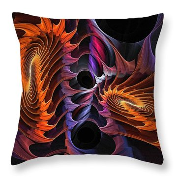 Rainbow Incursion Throw Pillow
