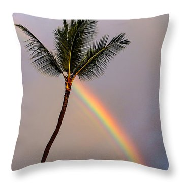 Rainbow Just Before Sunset Throw Pillow
