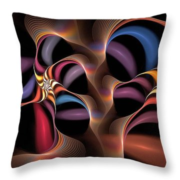 Rainbow Lillies-1 Throw Pillow