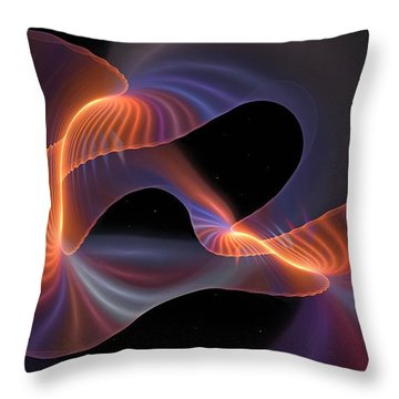 Rainbow Shimmer Throw Pillow