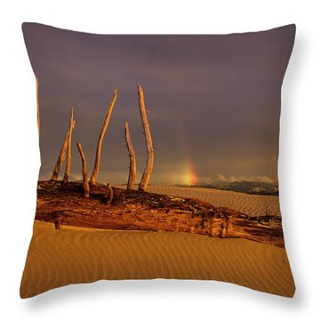 Rainy Day Dunes Throw Pillow