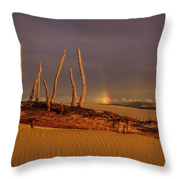 Rainy Day Dunes Throw Pillow