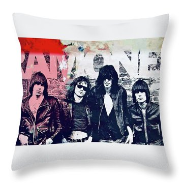 Ramones Throw Pillow