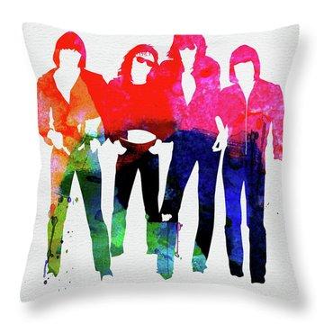 Ramones Watercolor Throw Pillow