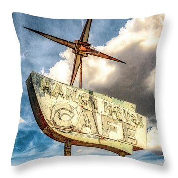 Ranch House Cafe Throw Pillow
