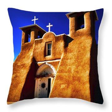 Ranchos Church  Xxxii Throw Pillow