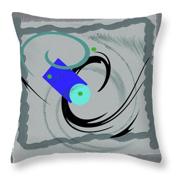 Randomness Variations 5, On Paper Montage Throw Pillow