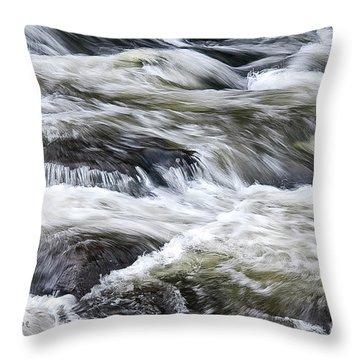 Rapids At Satans Kingdom Throw Pillow