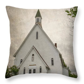Raquette Lake Chapel Throw Pillow