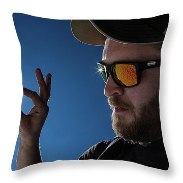 Rare Obsidian  Throw Pillow