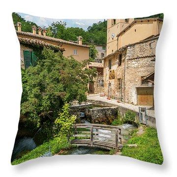 Rasiglia, Small Village Near Foligno. Throw Pillow