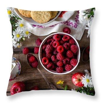 Raspberry Breakfast Throw Pillow