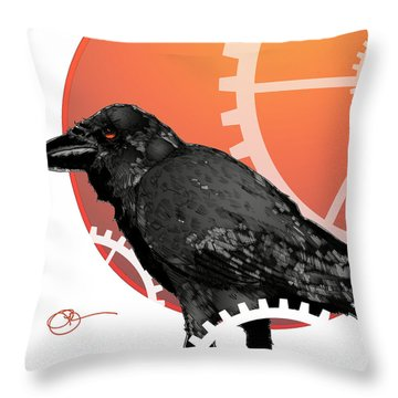 Raven Craft Throw Pillow