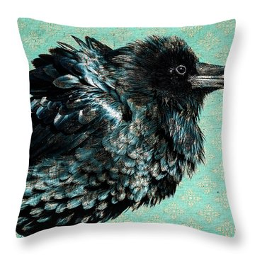 Raven Maven Throw Pillow