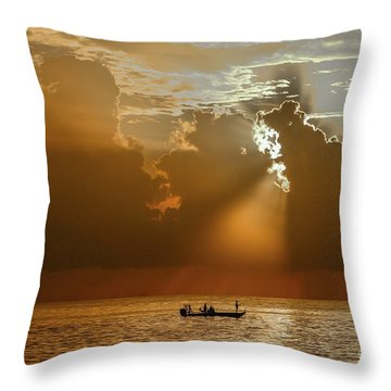 Throw Pillow featuring the photograph Rays Light The Way by Tom Claud