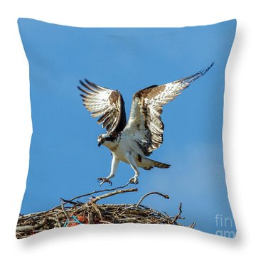 Reaching For Home Throw Pillow