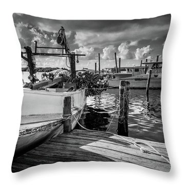 Ready To Go In Bw Throw Pillow
