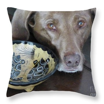 Throw Pillow featuring the photograph Reba by Rosanne Licciardi