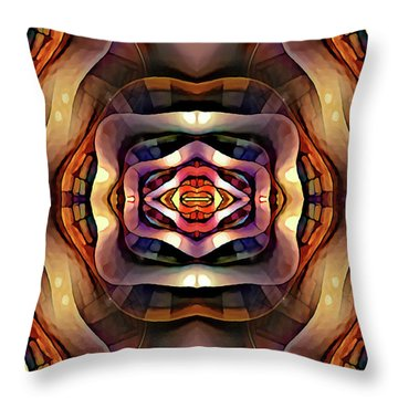 Throw Pillow featuring the digital art Rebekah by Missy Gainer