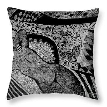 Reclining With Pillows Throw Pillow
