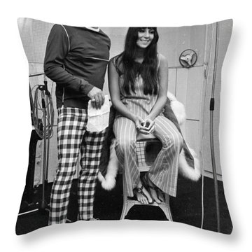 Sonny Bono Throw Pillows