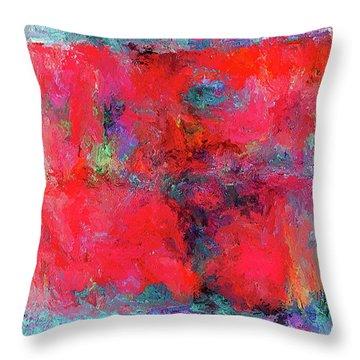 Rectangular Red Throw Pillow