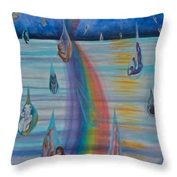 Recycled Energy Throw Pillow