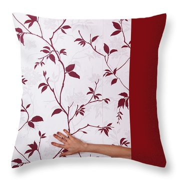 Red #0586 Throw Pillow