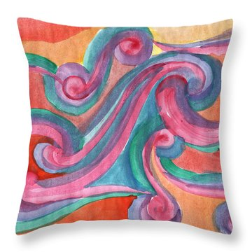 Throw Pillow featuring the painting Red Abstraction by Dobrotsvet Art