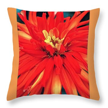 Throw Pillow featuring the digital art Red Bliss by Cindy Greenstein