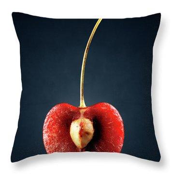 Red Cherry Still Life Throw Pillow