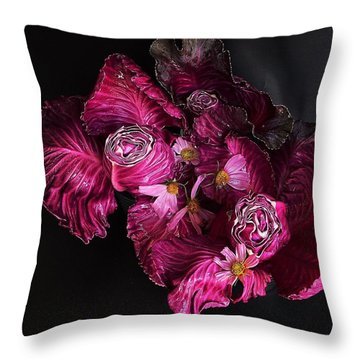 Red Cone Cabbage Throw Pillow